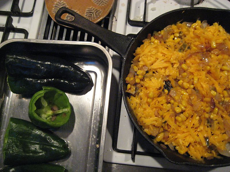 Peppers and stuffing