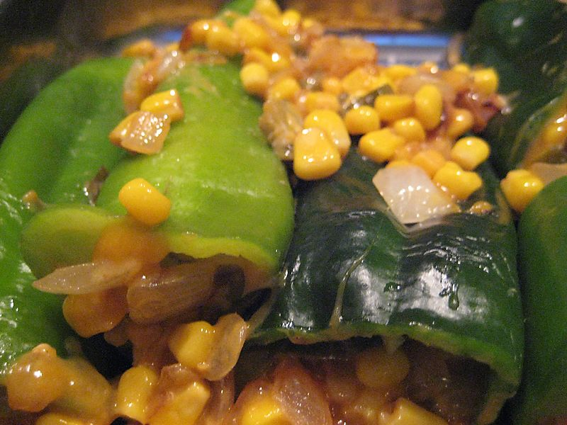 Stuffed and baked peppers