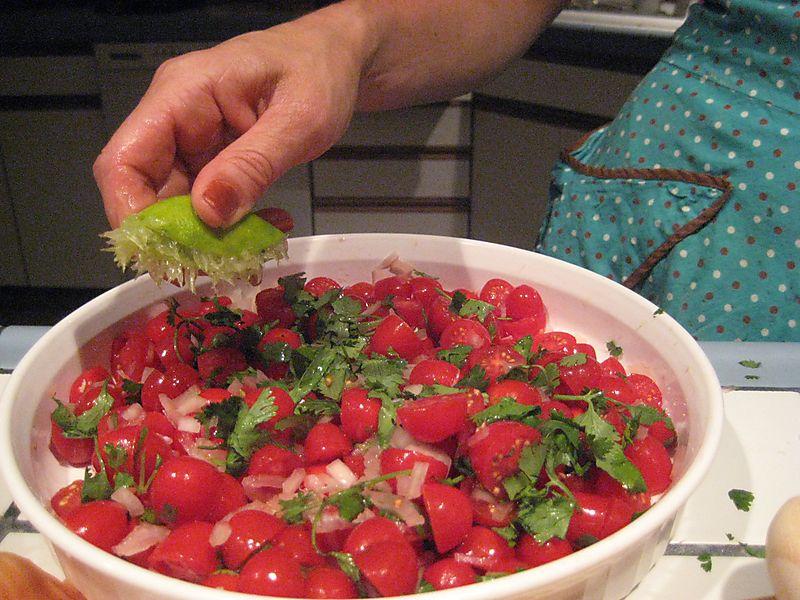 Tomato Onion Cilantro Salad