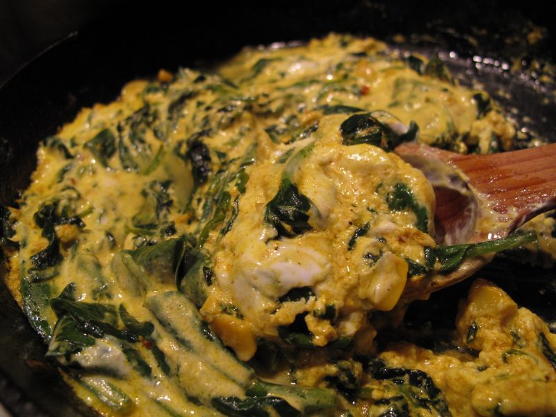 Yogurt Spinach Curry