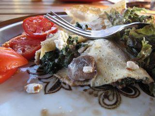 Mushroom & Spinach Crepe
