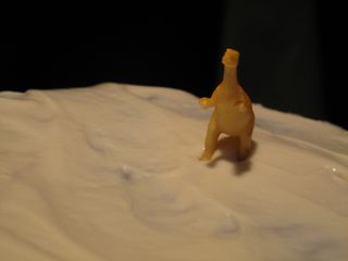 White Frosting with Dinosaur