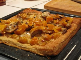 Puff pastry with butterneu squash