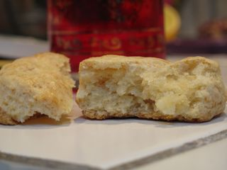 Cream biscuit inside