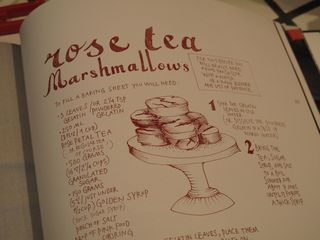 Marshmallow recipe in book