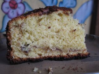 Coffee cake slice